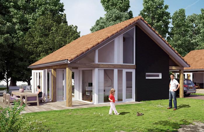 Houtconstructie vakantiewoning Burgh-Haamstede 01