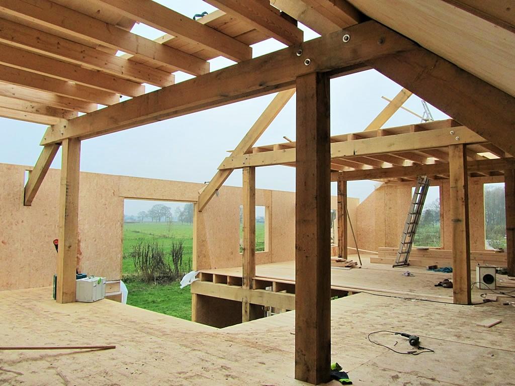 Houtconstructie woonhuis Emst 01